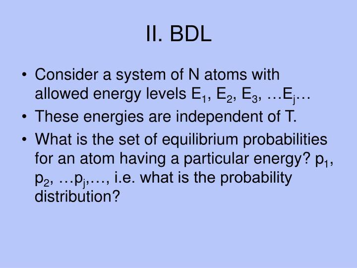 II. BDL