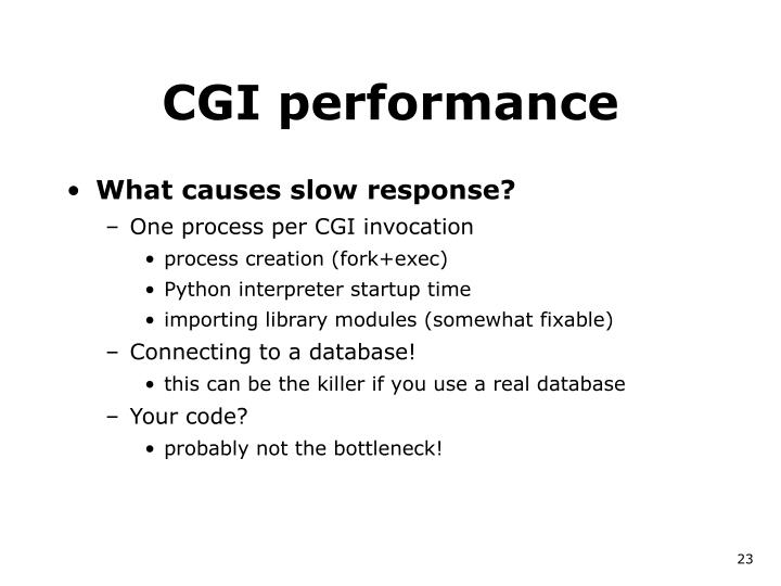 CGI performance