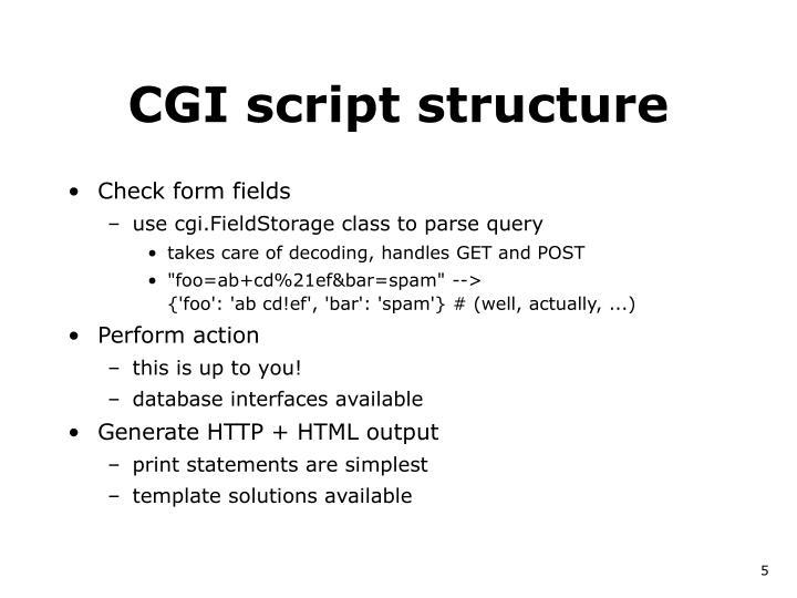 CGI script structure