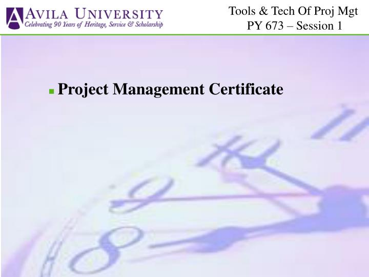 Project Management Certificate
