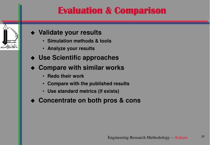 Evaluation & Comparison
