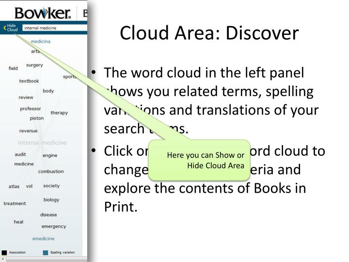 Cloud Area: Discover