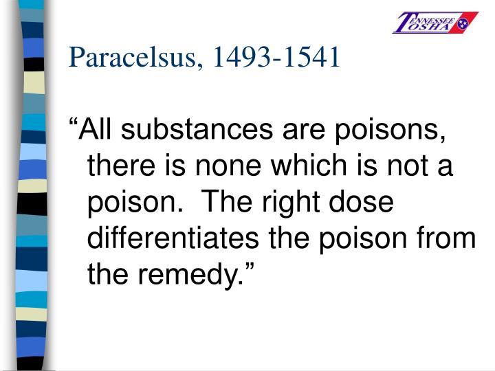 Paracelsus, 1493-1541