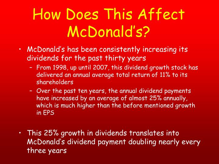 How Does This Affect McDonald's?