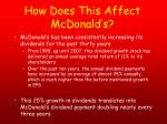 how does this affect mcdonald s