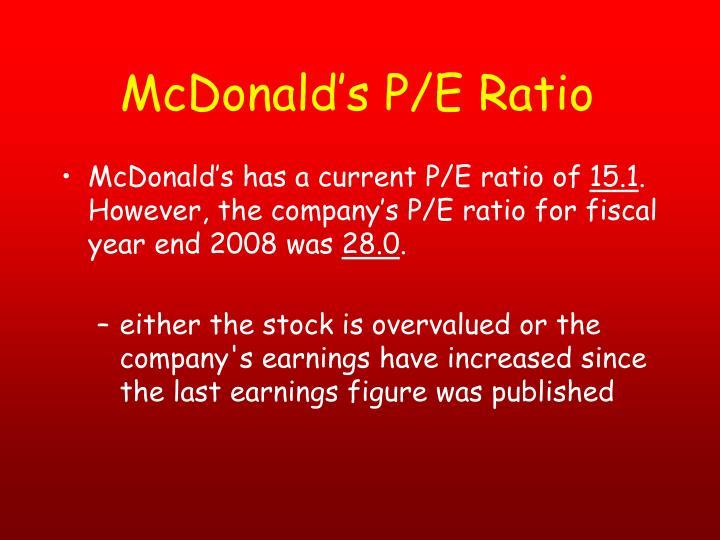 McDonald's P/E Ratio