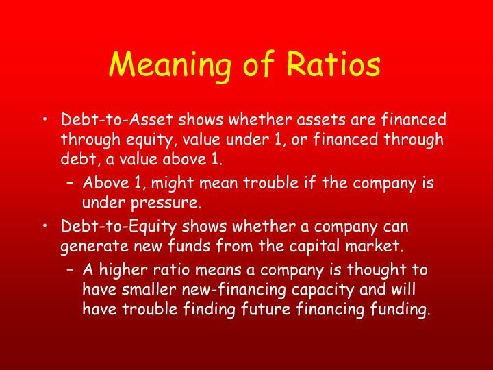 Meaning of Ratios
