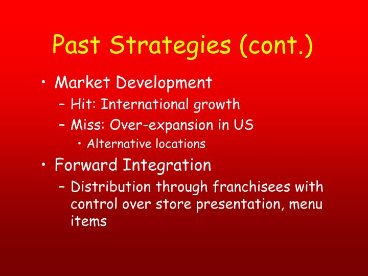 Past Strategies (cont.)