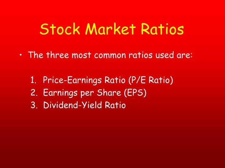 Stock Market Ratios