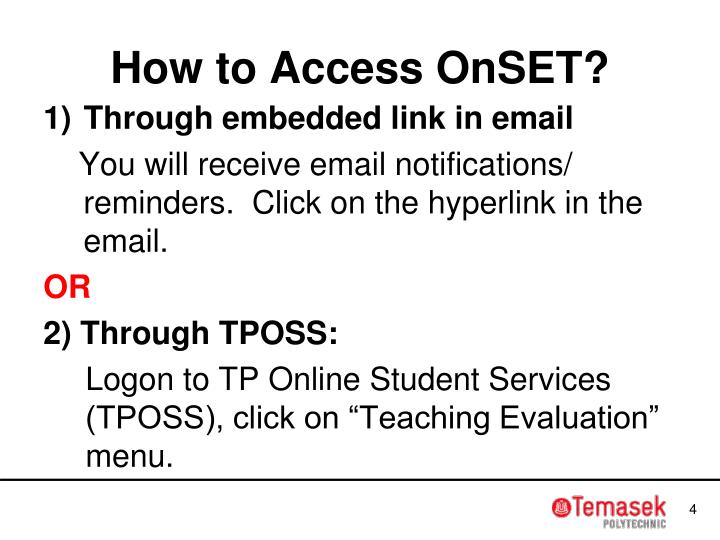 How to Access OnSET?