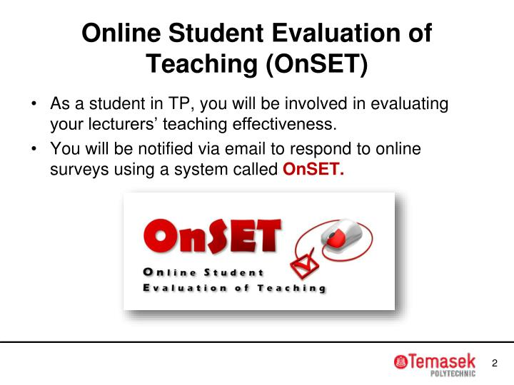 Online student evaluation of teaching onset
