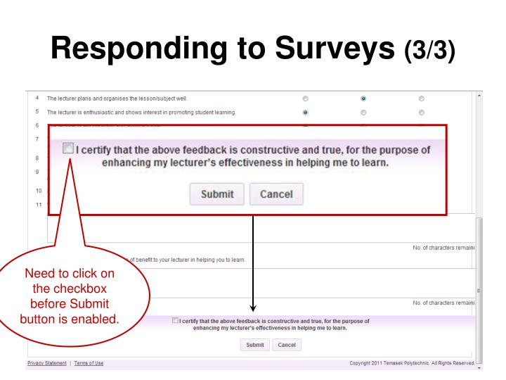 Responding to Surveys