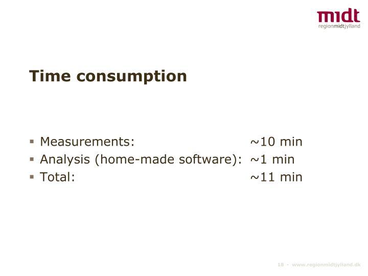 Time consumption
