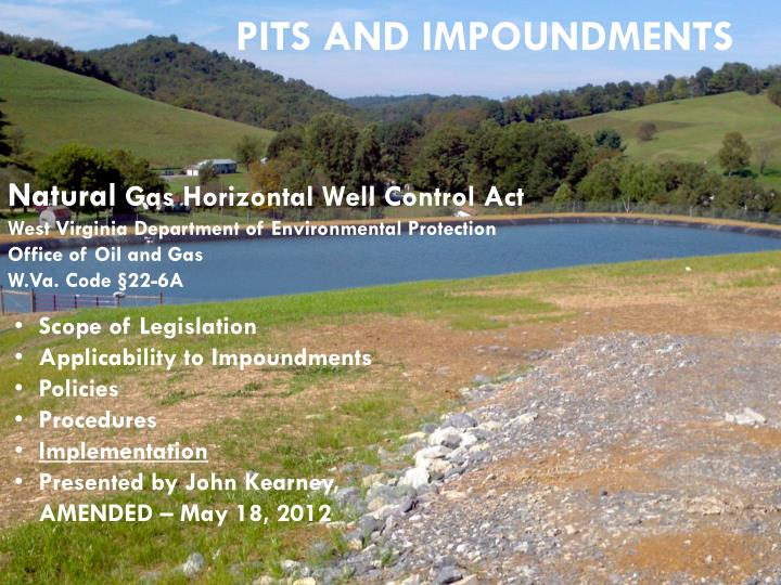 Pits and impoundments