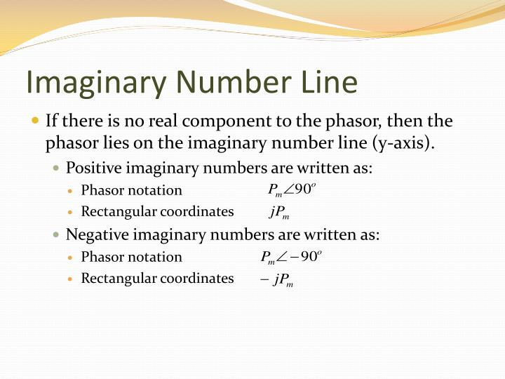 Imaginary Number Line