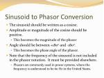 sinusoid to phasor conversion