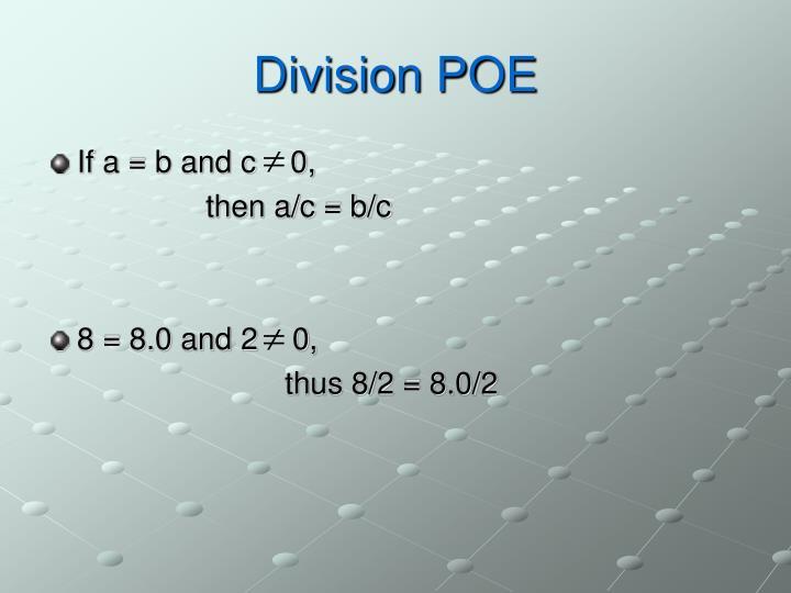 Division POE
