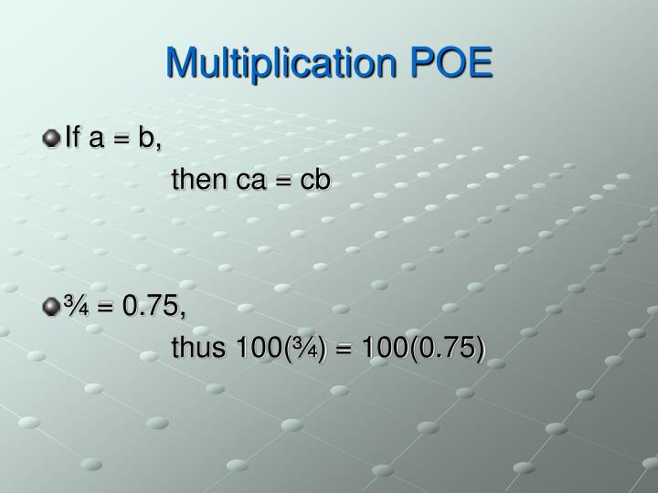 Multiplication POE