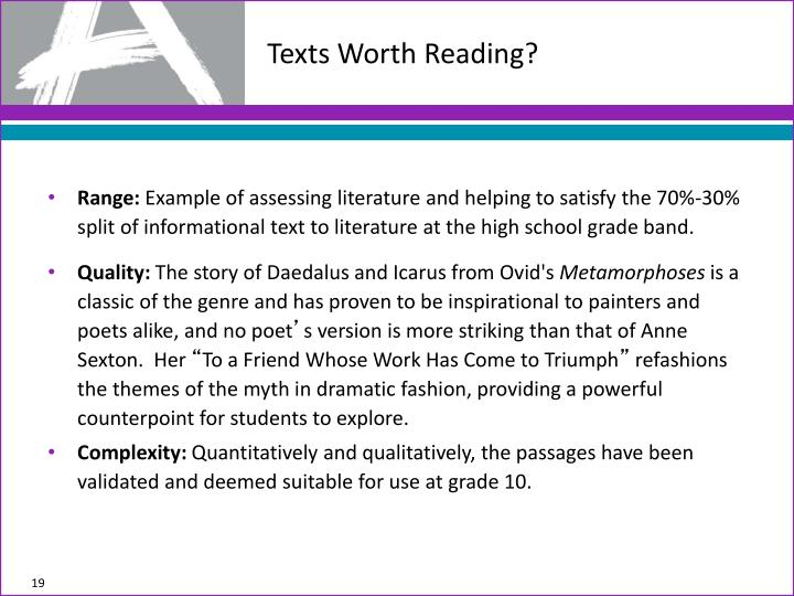 Texts Worth Reading?