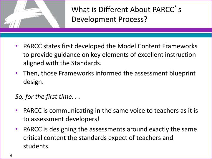 What is Different About PARCC