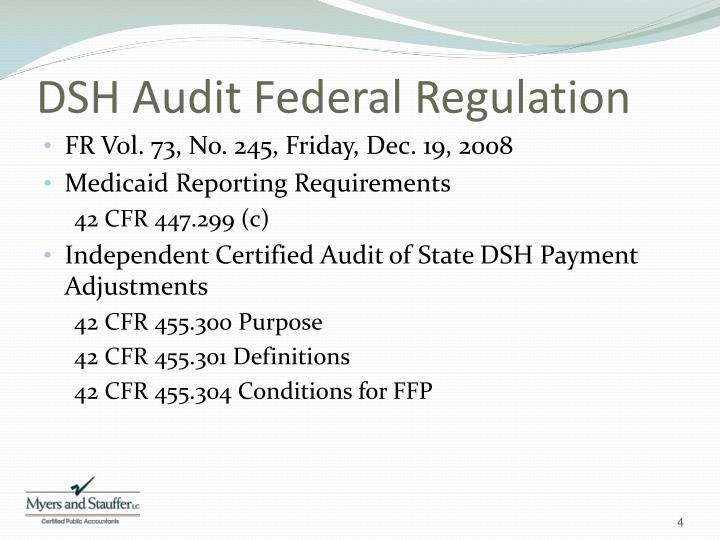 DSH Audit Federal Regulation