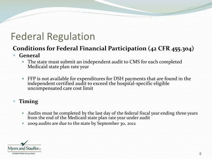 Federal Regulation