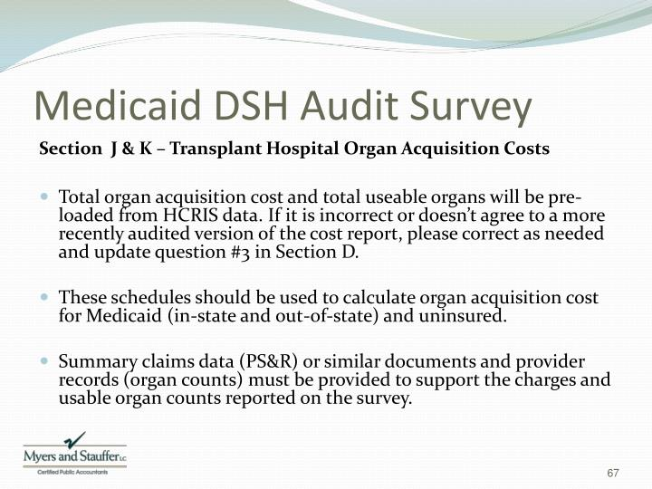 Medicaid DSH Audit Survey