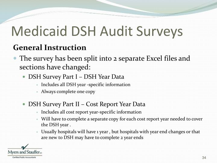 Medicaid DSH Audit Surveys