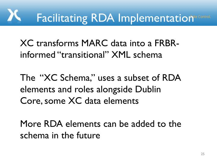 Facilitating RDA Implementation