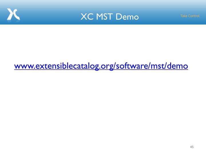 XC MST Demo