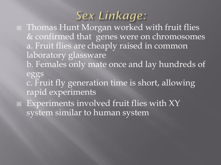 Sex Linkage: