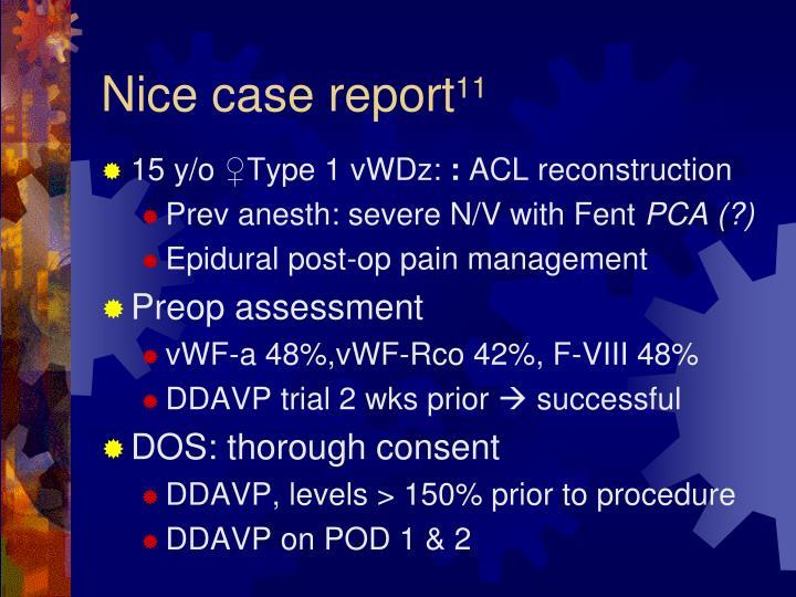 Nice case report