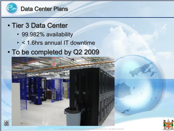 Data Center Plans