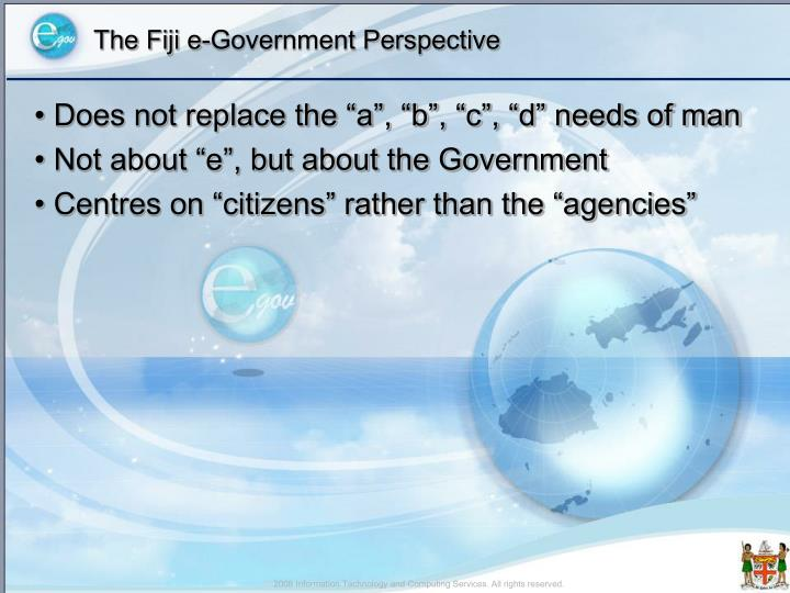 The fiji e government perspective