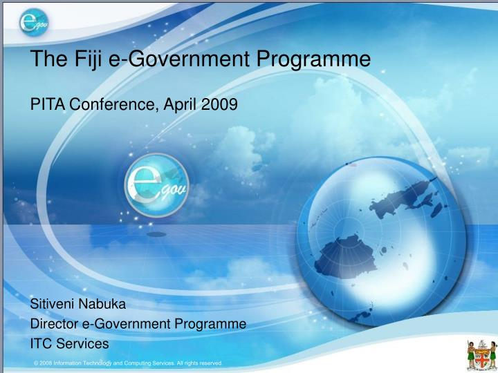 The fiji e government programme
