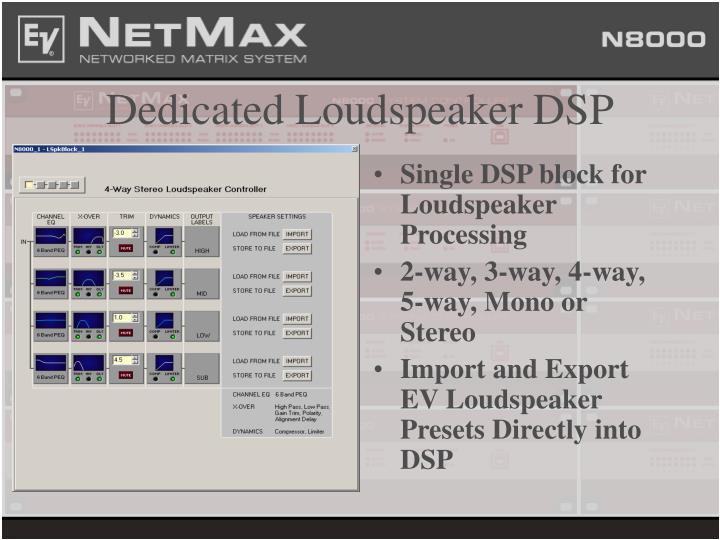 Dedicated Loudspeaker DSP