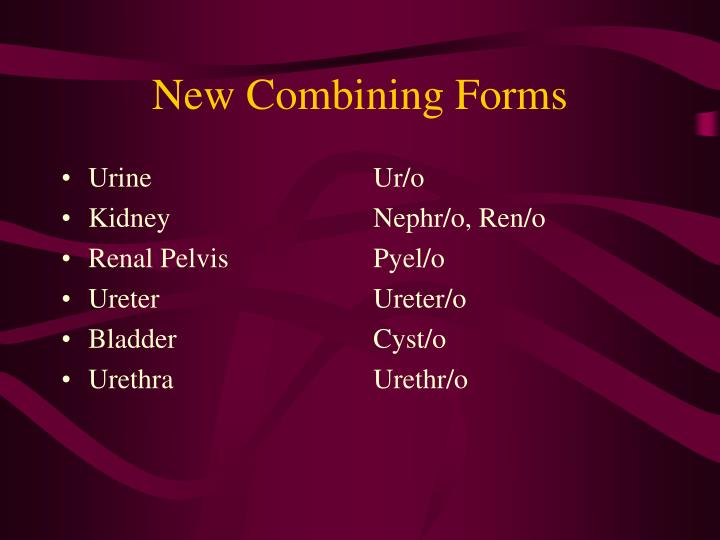 New combining forms