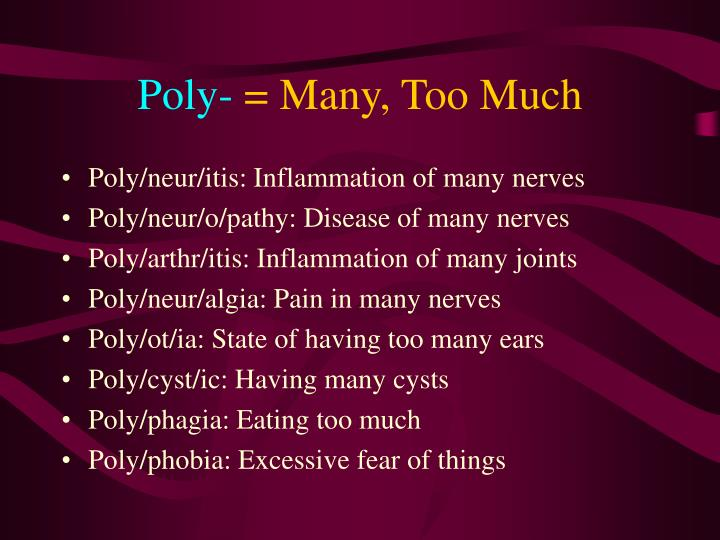 Poly-