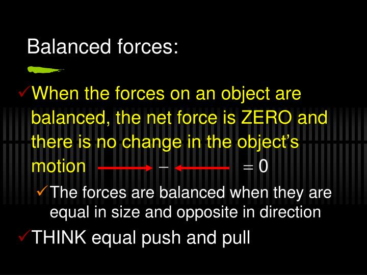 Balanced forces: