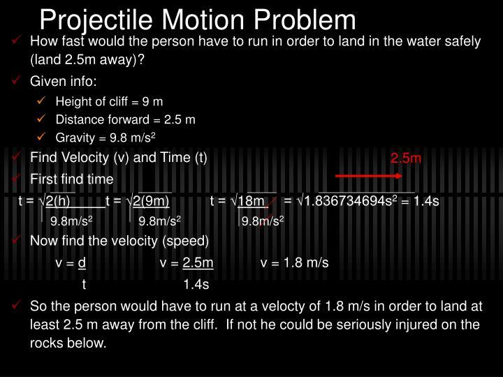Projectile Motion Problem