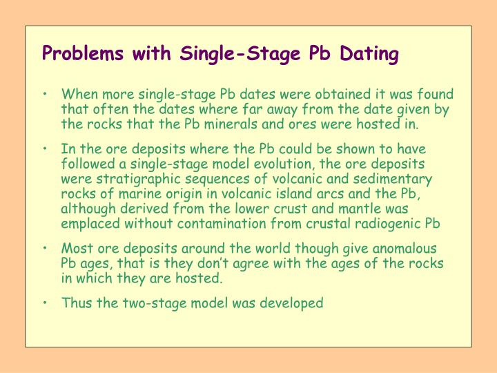 Problems with Single-Stage Pb Dating