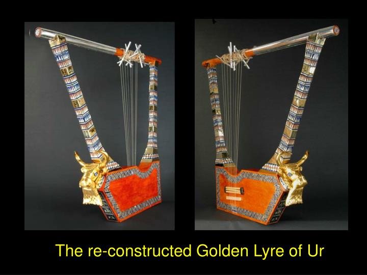 The re-constructed Golden Lyre of Ur