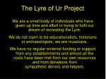 the lyre of ur project1