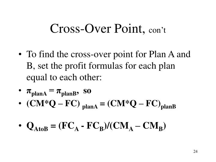 Cross-Over Point,