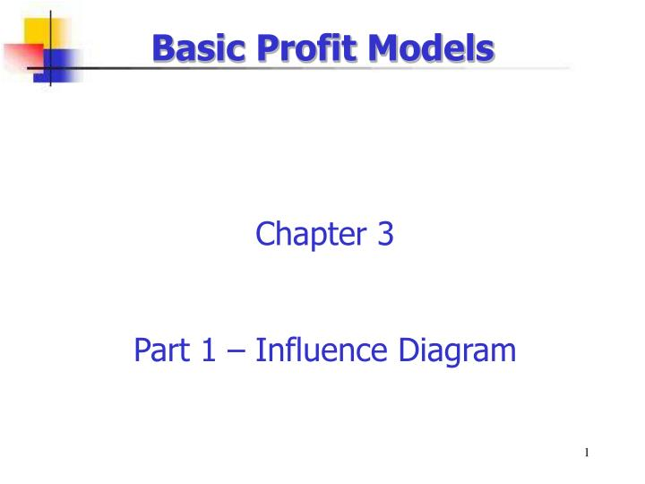 Basic Profit Models