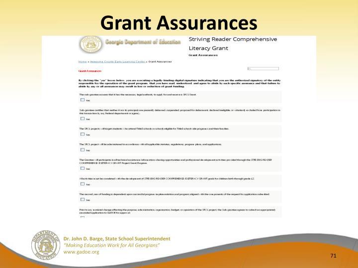 Grant Assurances