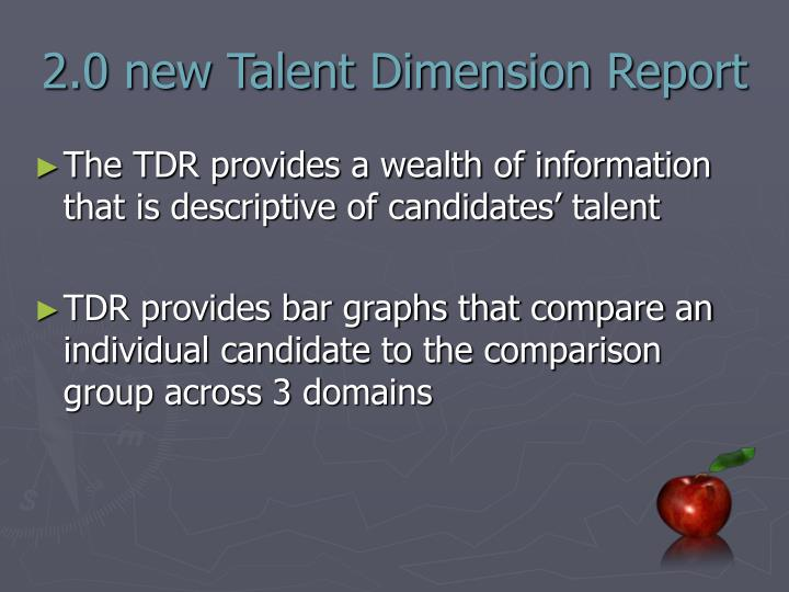 2.0 new Talent Dimension Report
