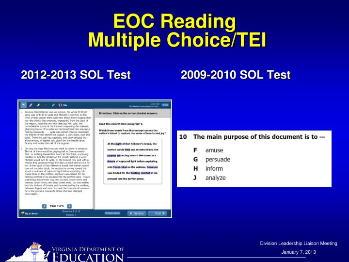 EOC Reading