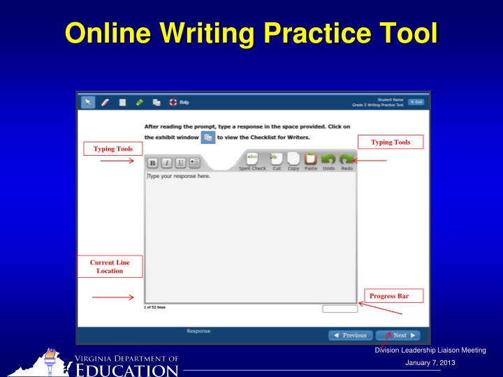 Online Writing Practice Tool