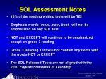sol assessment notes